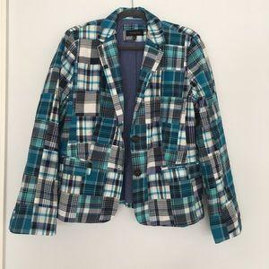 EUC Talbots plaid blazer jacket 16